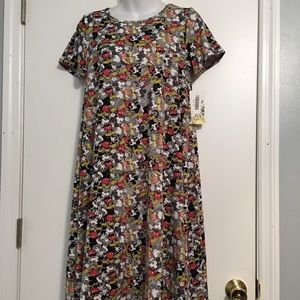 LulaRoe Disney Carly Mickey Mouse hi- lo dress